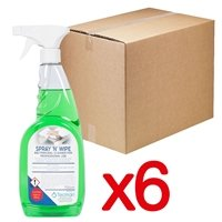 Tecman Spray and Wipe Bactericidal Surface Cleaner 750ml Trigger Spray Box of 6